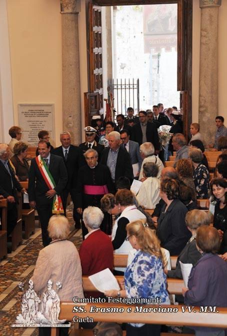 L'arrivo del corteo in Cattedrale